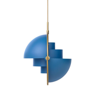 MULTI-LITE Pendant Lamp,  Brass – Blue