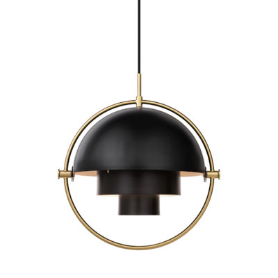 MULTI-LITE Pendant Lamp, Brass – Charcoal Black