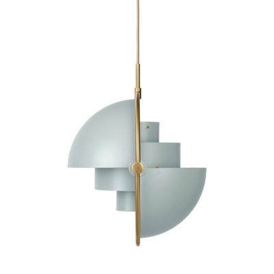 MULTI-LITE Pendant Lamp,  Brass – Sea Grey
