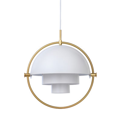 MULTI-LITE Pendant Lamp,  Brass – White