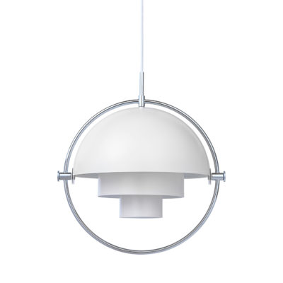 MULTI-LITE Pendant Lamp,  Chrome – White