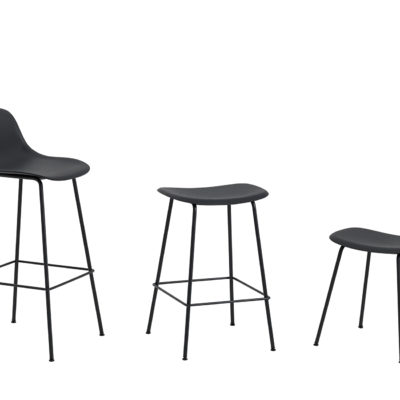 FIBER Counter Stool Tube Base, H65cm, Black