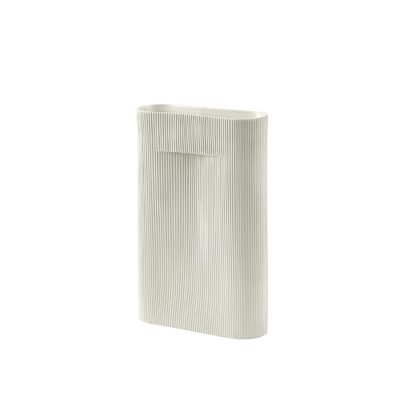 RIDGE Vase Large, Off-White