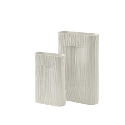 RIDGE Vase Large, Off-White