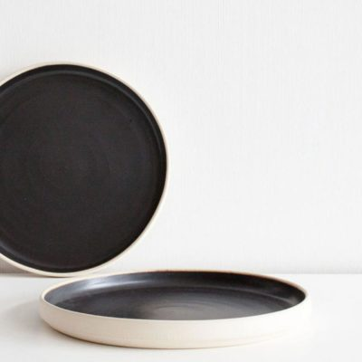 OTTO Plate Black (S), Set of 2