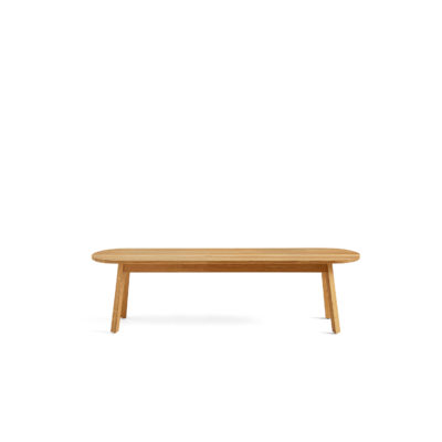 TRIANGLE LEG Bench Oiled Solid Oak, L150