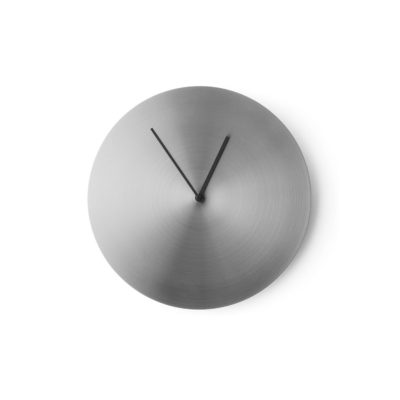 NORM Wall Clock, Brushed Steel