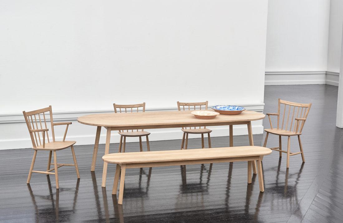 TRIANGLE LEG Table, Soaped Oak, L200