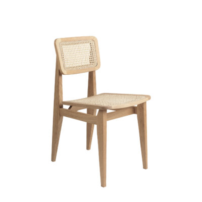 C Chair, All French Cane, Oak