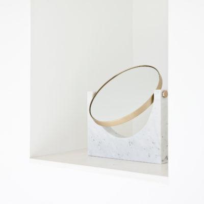 PEPE Marble Mirror, White