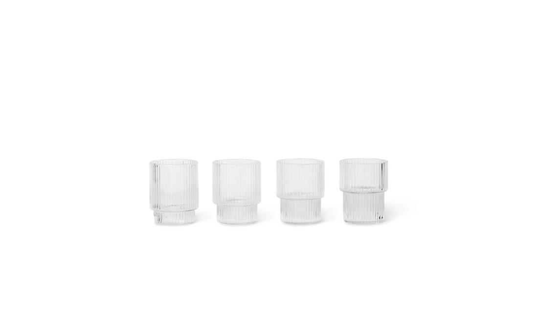 RIPPLE Small Glasses, set of 4