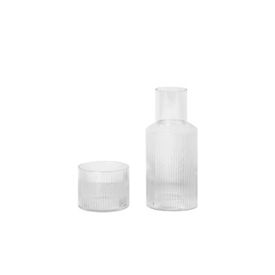 RIPPLE Carafe Set Small, Clear