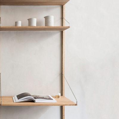 SHELF LIBRARY White, Desk Section
