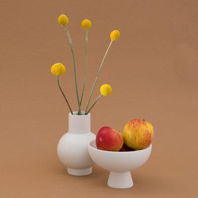 STRØM Vase Small, Vaporous Grey