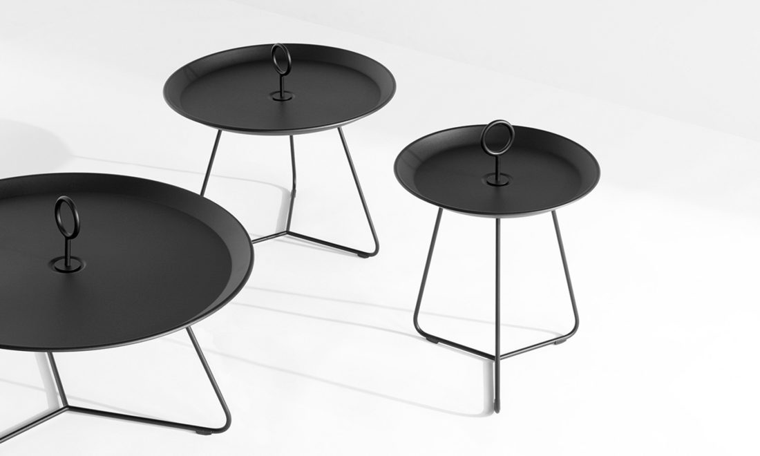 EYELET Tray Table Ø45 , Black