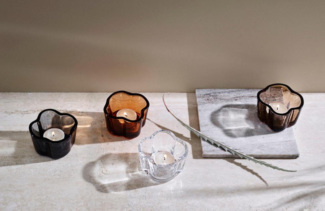 ALVAR AALTO Tealight Holder, Linen