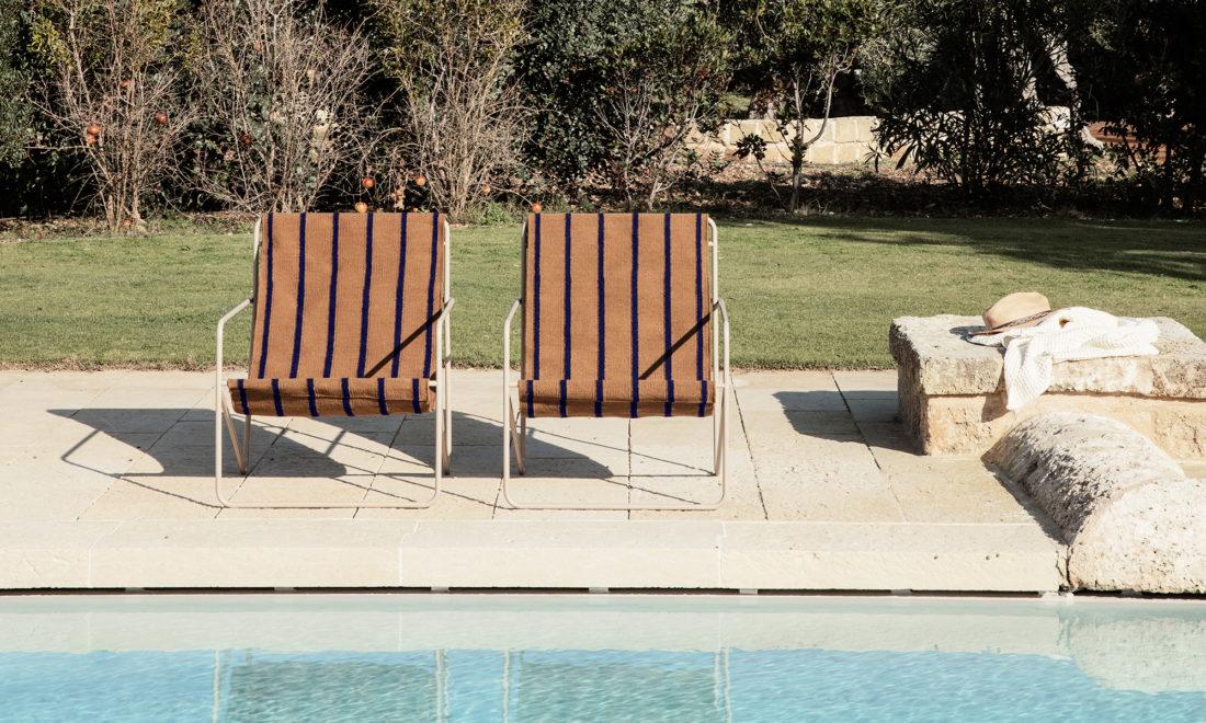 DESERT Lounge Chair, Stripes