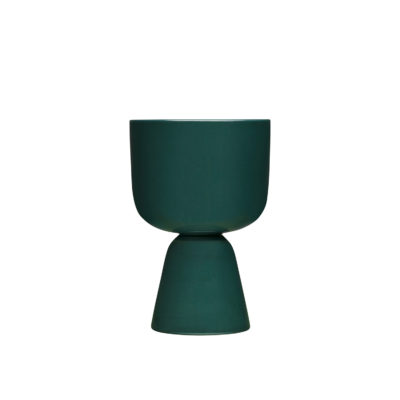 NAPPULA Plant Pot S, Dark Green