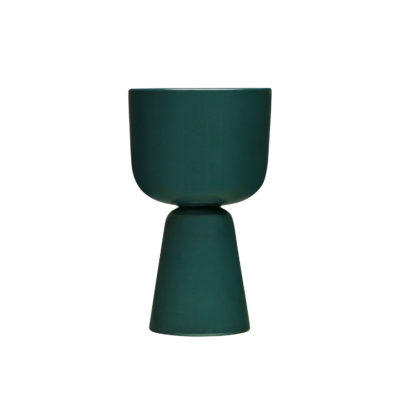 NAPPULA Plant Pot L, Dark Green