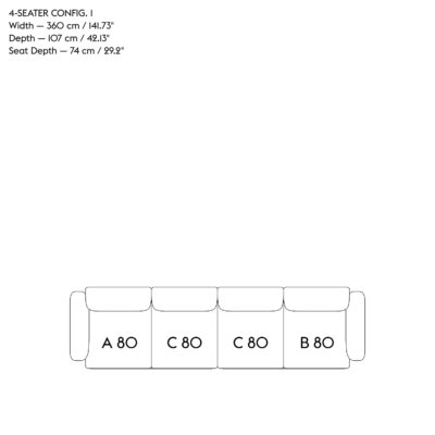 IN SITU Modular Sofa, 4-Seater