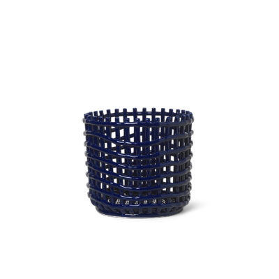CERAMIC BASKET Large, Blue