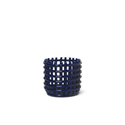 CERAMIC BASKET Small, Blue