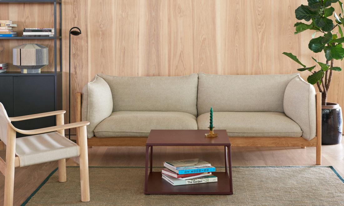 ARBOUR 3 Seater, Solid Oak