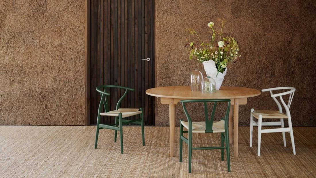 CH24 WISHBONE Chair Special Edition, Soft Green