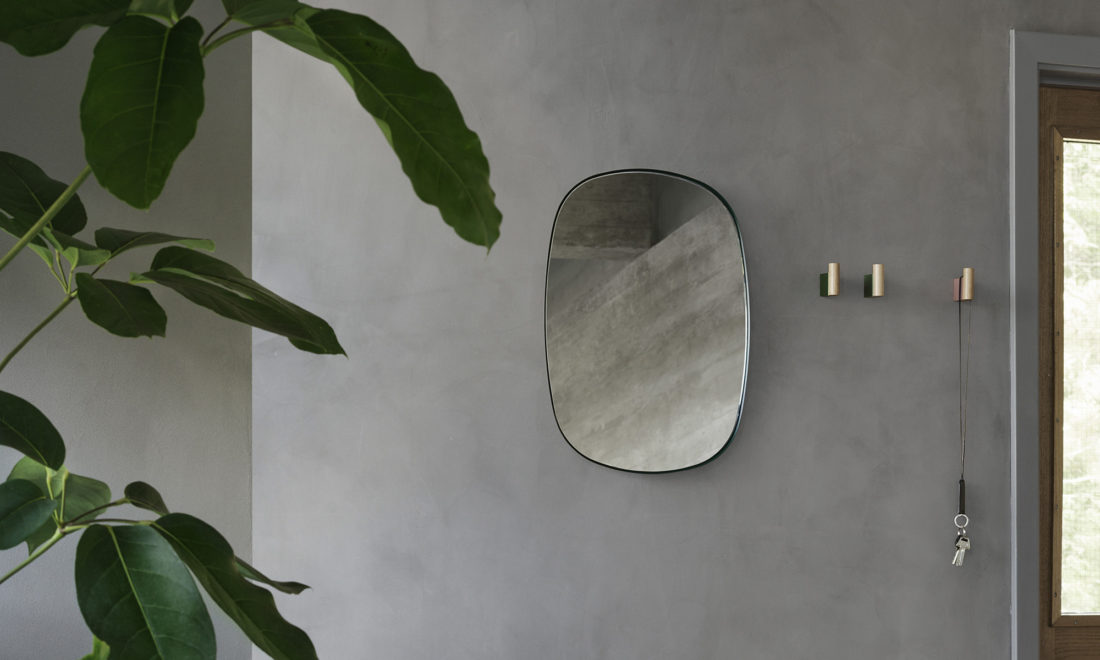 FRAMED Mirror Large, Dark Green