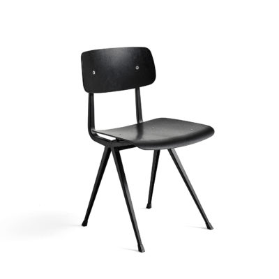 RESULT Chair, Black Base, Black Lacquered Oak