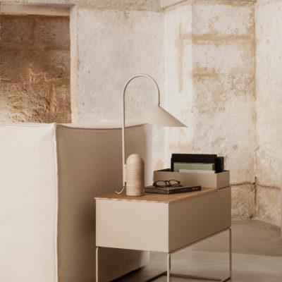 ARUM Table Lamp, Cashmere