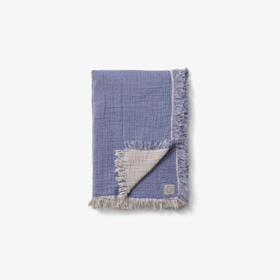 COLLECT THROW SC32, Cloud & Blue