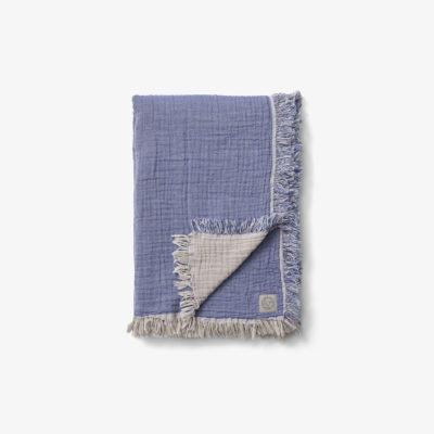 COLLECT THROW SC33, Cloud & Blue
