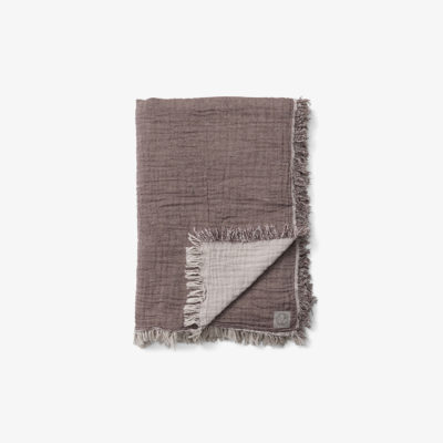 COLLECT THROW SC33, Cloud & Burgundy