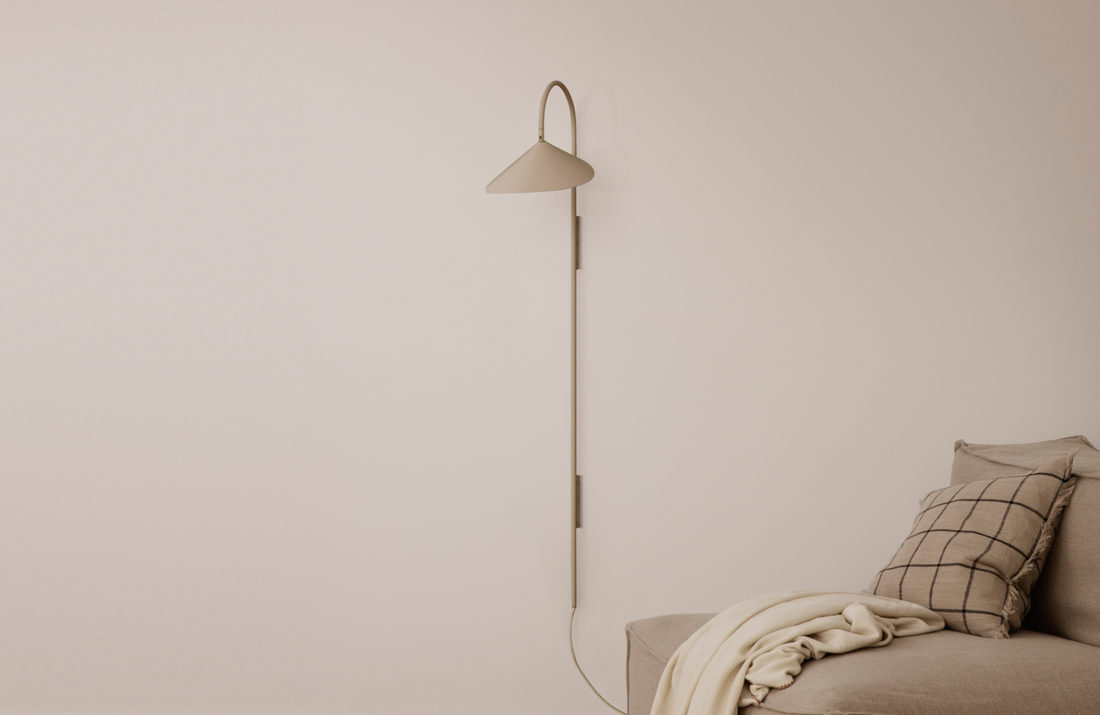 Arum Tall Wall Lamp, Cashmere