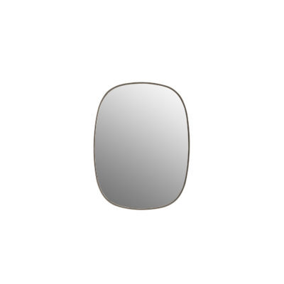 FRAMED Mirror Clear Small, Taupe