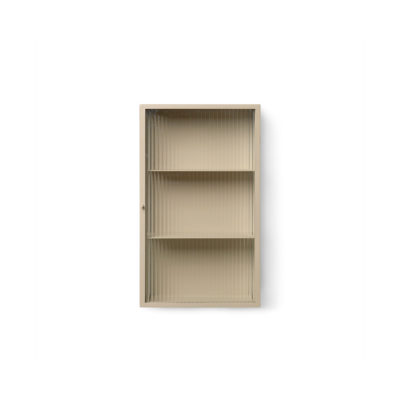 HAZE  Wall Cabinet, Reeded Glass