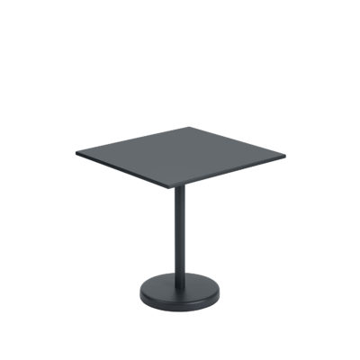 LINEAR Steel Cafe Table, Square