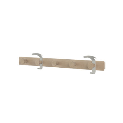 PLANK Coat Rack, Oak/Grey