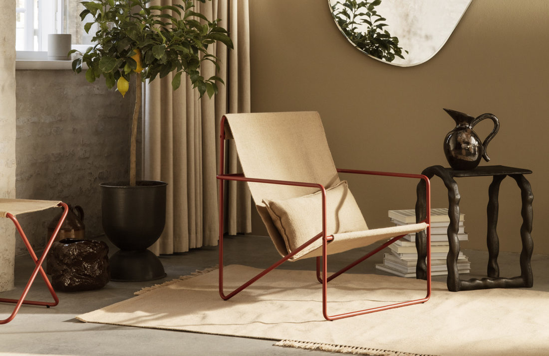 DESERT Lounge Chair, Solid Poppy Red