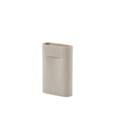 RIDGE Vase Small, Beige