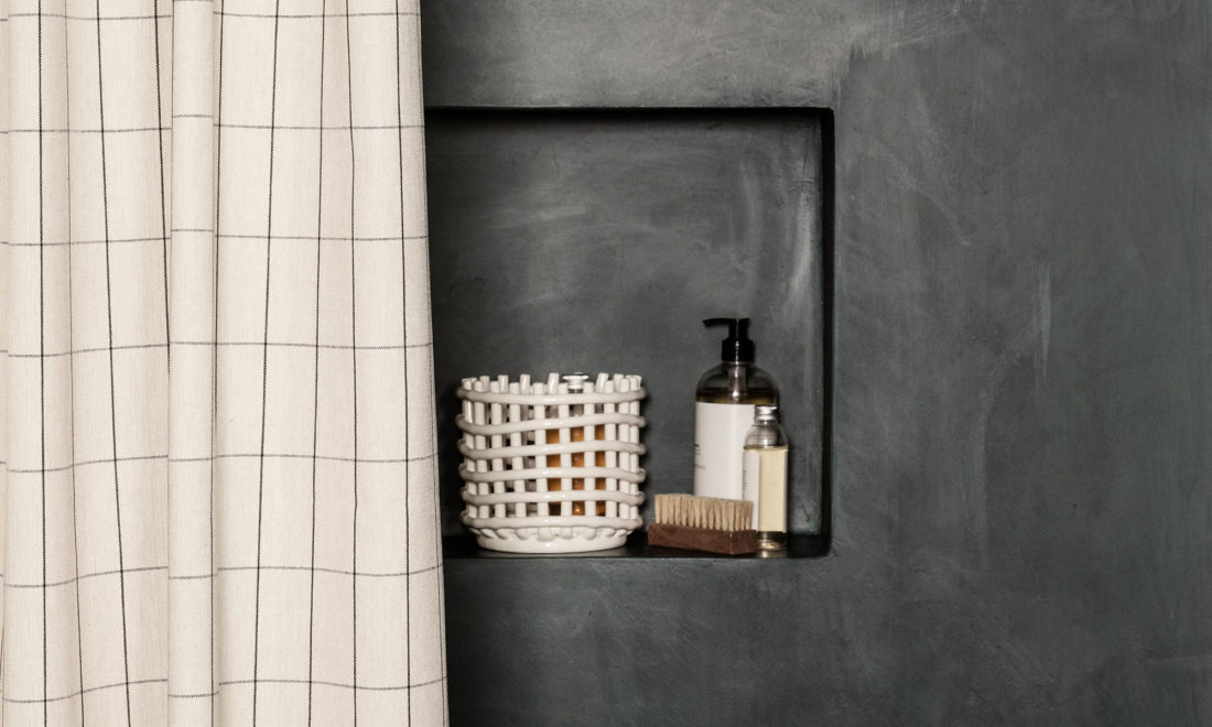 CERAMIC BASKET Small, Off White